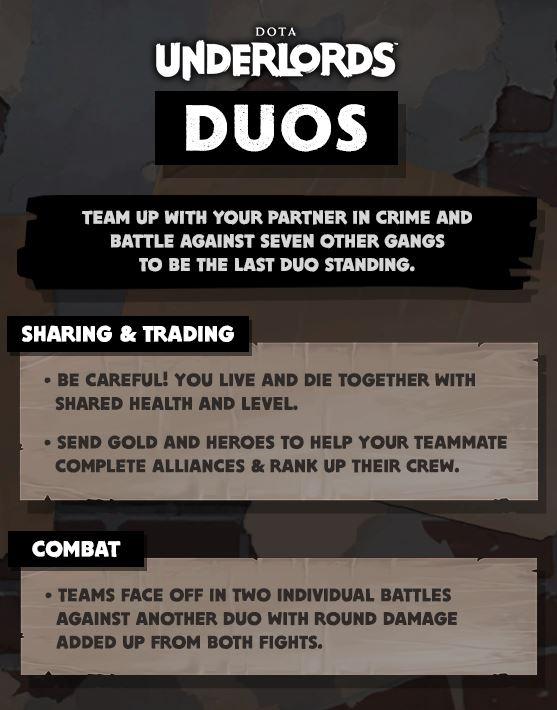 Dota Underlords Duos