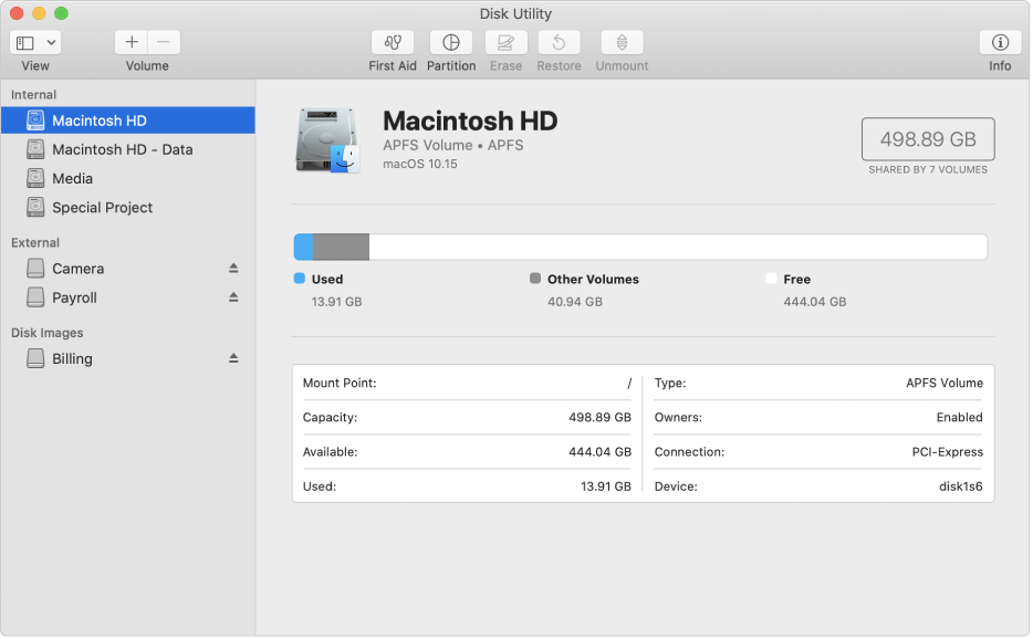 SD card settings on Mac OS