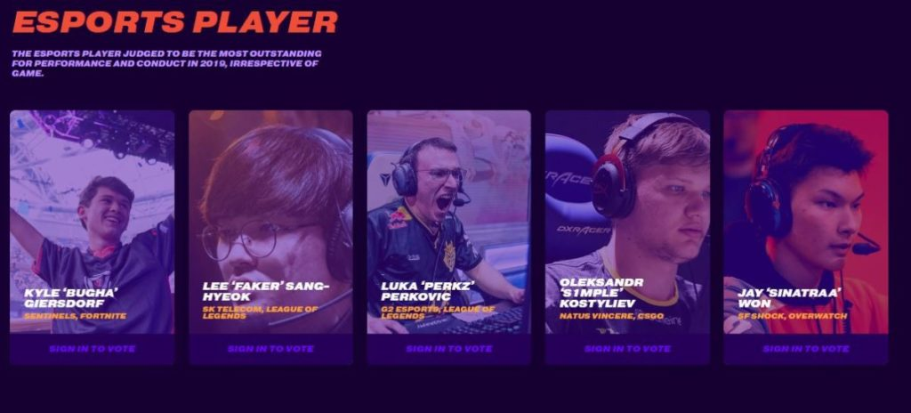 Esports Player Nominees