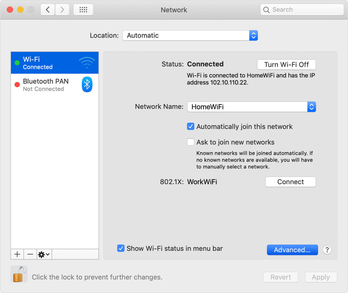 how to forget a network on mac