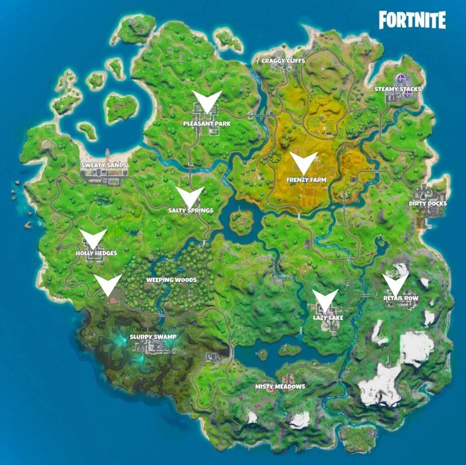 Fortnite Snowflake Locations