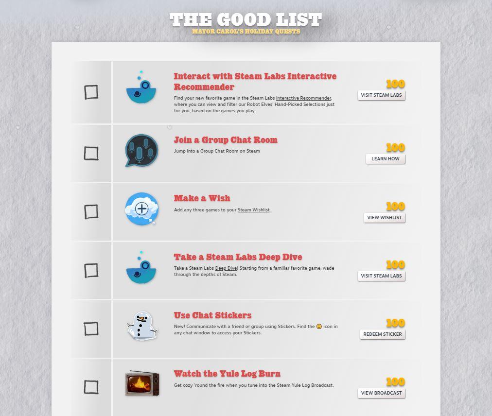 Steam Quest list
