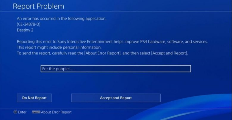 Corrupted Data Error PS4