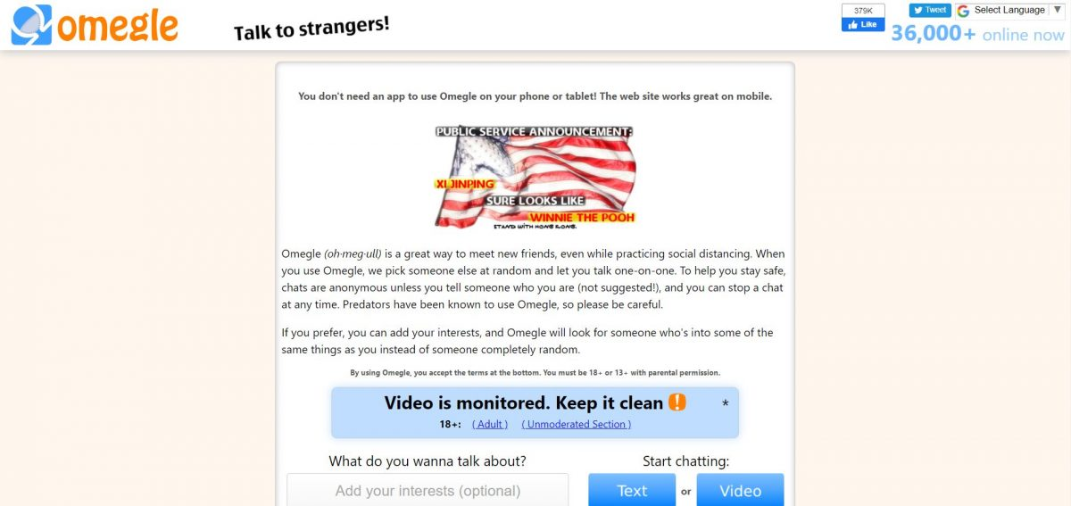 Strangers ps4 video talk omegle 5 sites