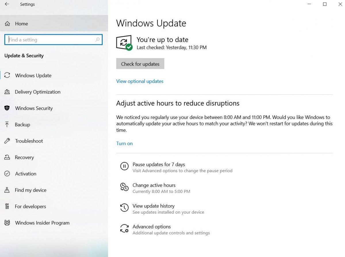 High CPU Usage Windows 10