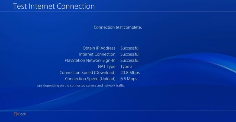 PS4 Network Connection Error