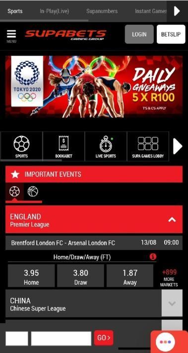 Supabets Mobile App 1