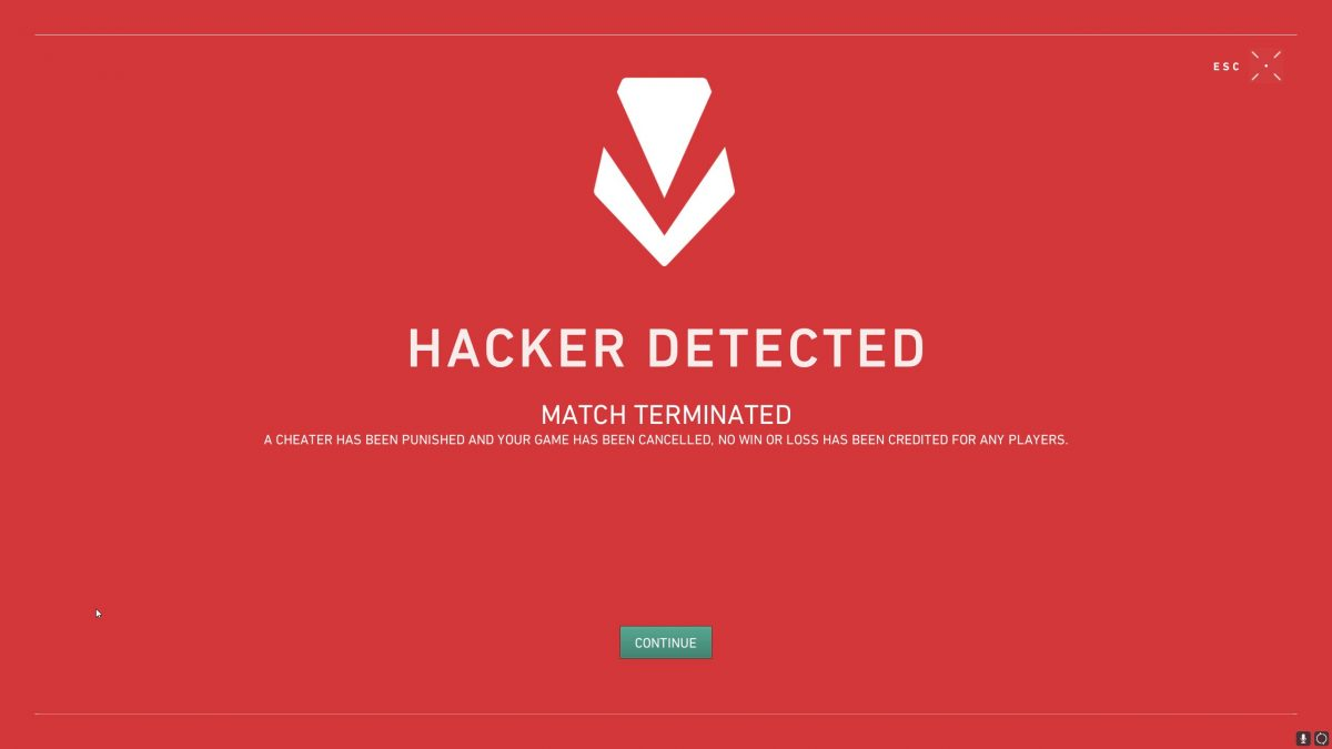 Game Security Violation Detected