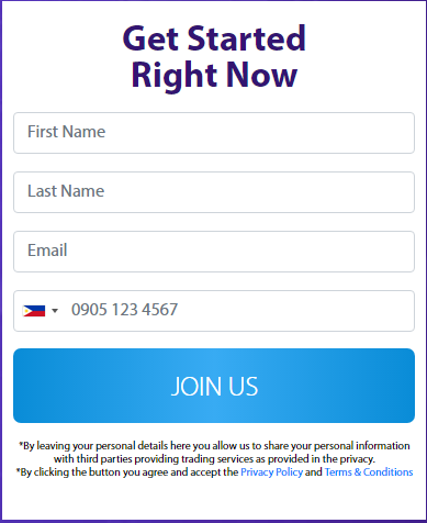 crypto get started form