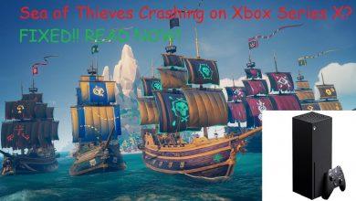 Sea of Thieves Crashing Xbox